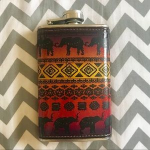 Stainless Steel Flask w/ elephant design